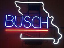 """New Busch Beer Light Missouri Home Decor Neon Sign Bar Pub Gift 20""""x16"""""""