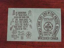 Thunder Bird Scenery Shop Vancouver Canada Vintage Decal Hyiu-Tillicum Souvenir