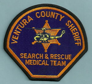 VENTURA COUNTY SHERIFF CALIFORNIA SEARCH & RESCUE HELICOPTER SHOULDER PATCH