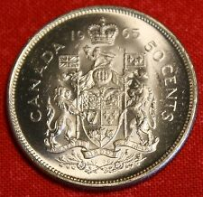 1965 CANADIAN HALF DOLLAR BU 80% SILVER GREAT COLLECTOR COIN GIFT CAH06