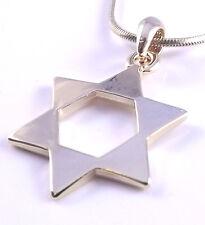 Estrella De David Magen Judaica Collar Colgante Kabbalah Dorado Judío Israel Regalo