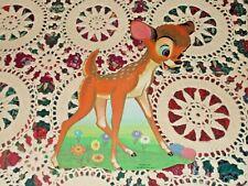 Vtg Dennison Disney Bambi Facing Right Cardboard Decoration Diecut Nos Mint