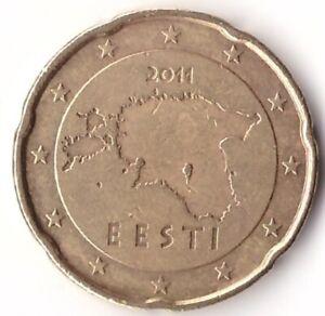 20 Euro Cent 2011 Estonia Coin KM#65