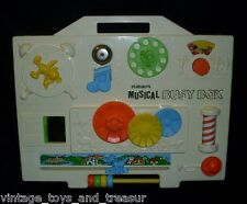VINTAGE 1977 PLAYSKOOL MUSICAL BUSY BOX WALT DISNEY MICKEY MOUSE BABY CRIB TOY