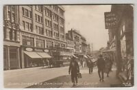 Wales postcard - Queen Street and Dominion Buildings, Cardiff (A482)