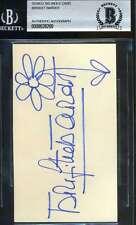 BRIGITTE BARDOT BAS BECKETT AUTHENTICATION SIGNED 3X5 INDEX CARD AUTOGRAPH