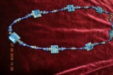Artist Made Lapis and Glass Beads Necklace