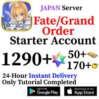 [JP] (Lv. 1 Fuyuki) 1290+ SQ 50+ Tix Fate Grand Order FGO Quartz Starter Account