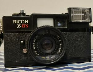 """Ricoh """"35 EFS"""" 35mm Point & Shoot Film Camera With Soft Carry Case"""