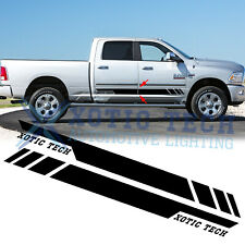 Black Body Side Door Stripe Decor Sticker For Dodge Ram 1500 2500 3500 2009-17