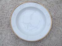 ROSENTHAL 1 x Suppenteller HELENA Porzellan elfenbeinfarben Goldrand  D  24cm