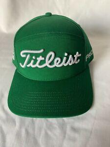 NEW Tour Issue Titleist Cotton Tour Split Panel Golf Hat FJ Pro V1 Logos Green