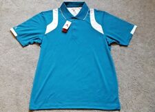 NWT Antigua Men's Desert Dry Performance Wicking Golf Polo Shirt Large Teal