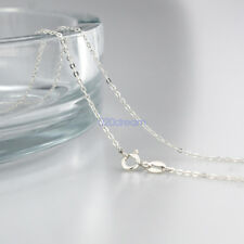 "Pure Solid 925 Sterling Silver Curb Chain Ladies Necklace 16""18""20""22""24""inches"