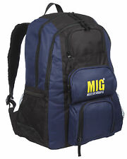 Mens Large Padded Backpack & Rucksack Bags TRAVEL WORK HIKING SPORTS - NAVY 237