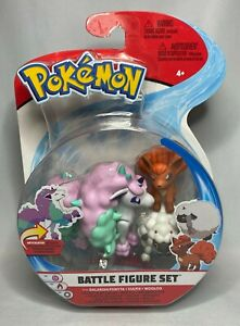 Pokemon Battle Figure 3 Piece Set GALARIAN PONYTA VULPIX WOOLOO - New / Sealed