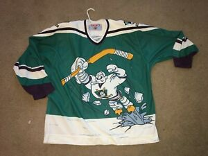 Vintage Anaheim Mighty Ducks Wild Wing Jersey Size Adult XL CCM authentic rare