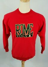 Vintage Rome Italy Reverse Weave Gusset Sweatshirt 80s Red Usa M Racing