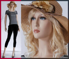 Female mannequin+base, Fiberglass hand made, Spray painted full body-Lily+2wigs