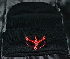Moltres Team Valor Beanie Beenie Pokemon Trainer Go Hat Cap Teens To Adults Red
