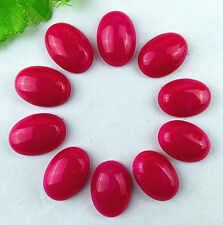 10PCS Beautiful red Jade carved Oval CAB cabochon BC945