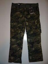 Royal Men's Army Combat Uniform 100% Cotton Straight Fit Cargo Pants Sz 36/32