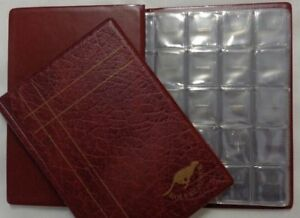 Collection Coin Album Burgundy for one pound and many type of mix coins 88 slots