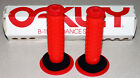 OAKLEY RED/BLACK 2010 RELEASE BMX GRIPS NEW IN BOX