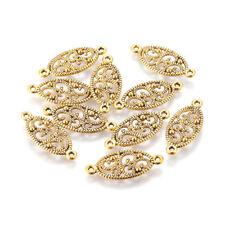 20pcs Tibetan Alloy Filigree Flower Connectors Oval Antique Gold Link Craft 27mm