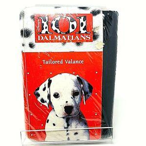 "Vintage Disney 101 Dalmatians Tailored Valance Black 80"" x 14"" Drapes Curtain"