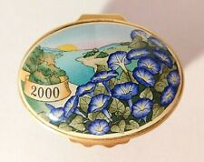 Halcyon Days Morning Glory Flowers 2000 Enamel Box