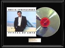 BRUCE SPRINGSTEEN TUNNEL OF LOVE ALBUM  WHITE GOLD PLATINUM TONE RECORD VINYL LP
