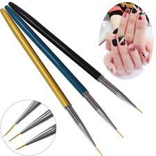 3pcs Tiny Acrylic Nail Art Design Decoration Brush Painting Drawing Pen Tool
