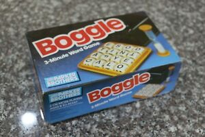 Vintage BOGGLE by Parker Brothers - 3 Minute Word Game / Retro Board Games
