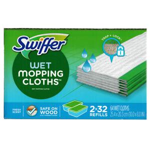 Swiffer Sweeper Wet Mopping Refill Cloths Window Fresh Scent Mops 32|64|96|128