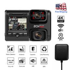 Dual Lens Camera Car DVR For Sony Sensor WIFI GPS Logger Dash Video Night Vision