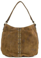 Patricia Nash Bello Great Carryall Burnished Cognac Suede Leather Hobo Bag Purse