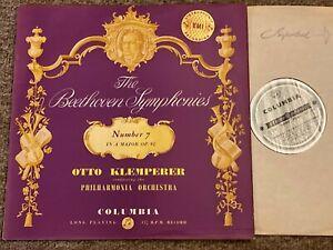 SAX 2415 B/s Ed1 BEETHOVEN Symphony no 7 KLEMPERER PO