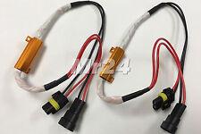 2x HID LED anti flicker resistor 9005 9006 9012 H10 9145 relay no dash error