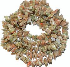"NG1334f Autumn Jasper Medium 8mm - 9mm Nugget Chip Natural Gemstone Beads 36"""