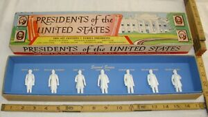 MARX THE PRESIDENTS OF THE UNITED STATES FIGURES SECOND SERIES BOXED 1960s