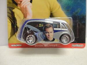 Hot Wheels QUICK D-LIVERY w/RR REAL RUBBER TIRES Star Trek CAPTAIN KIRK