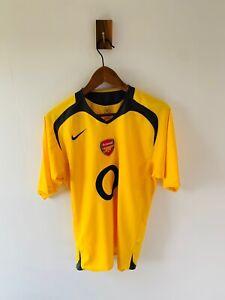 Arsenal 2005/06 Away Shirt Nike Yellow Classic Adults Large