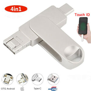 1TB 32GB USB 3.0 Flash Drive 4in1 Memory Stick U Disk For iPhone Android Type C