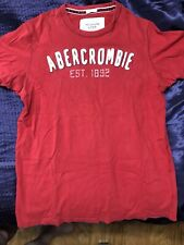 Abercrombie & Fitch A&F Red men's Tee-Shirt Large L