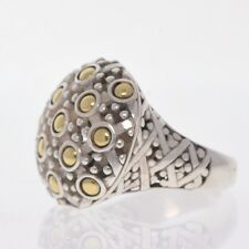 John Hardy Domed Ring Sterling Silver and 18K Yellow Gold (TW 11.30)