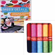 THREAD Auriful ~ HAPPY COLORS COLLECTION ~ Lori Holt 220 yds/50 wt 10 Spool Set