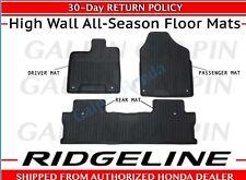 🔥OEM Honda Ridgeline High Wall All Season Floor Mat Set Mats 08P17-T6Z-100 🔥