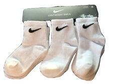 Nike Toddler Kids Lightweight Ankle Socks 6 Pairs, Size 3-4.5 (2-4 Years) White