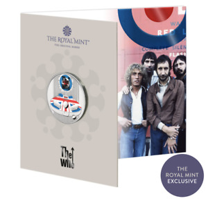 The Who 2021 UK £5 Brilliant Uncirculated Coloured Coin